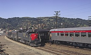 San Joaquin Daylight - An EMD SDP45 leads the San Joaquin Daylight at Martinez, California in 1971.
