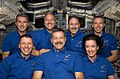 STS-125 Crew Portrait on Atlantis' Flight Deck (27625165733).jpg