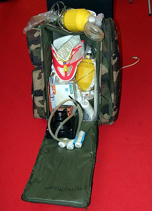 First aid pack of the French Army