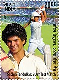 Indian stamp honouring Sachin Tendulkar
