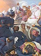 Sacred band dragatsani battle