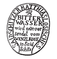 Saidschitzes Mattias Losisches Bitter Wasser clay pot logo.png
