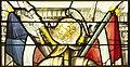 Saint-Chapelle de Vincennes - Baie 1 - Trophée d'armes (détail) (bgw17 0802).jpg