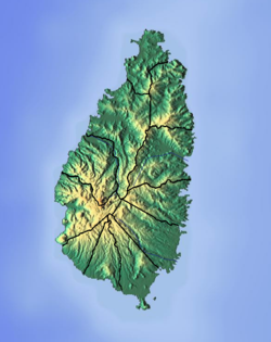 Saint Lucia location map Topographic.png