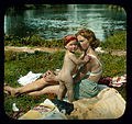 Saint Petersburg. Yelagin Island woman and child on the beach.jpg