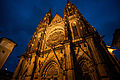 Saint Vitus Cathedral exterior at night. Prague, Czech Republic, Western Europe. October 24, 2012.jpg