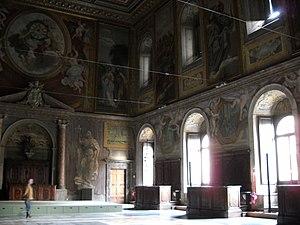 Sala dei Cento Giorni - Image: Sala dei cento giorni Giorgio Vasari 1547 Palazzo della Cancelleria 1