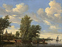 Salomon van Ruysdael - River Landscape with Ferry - Google Art Project.jpg