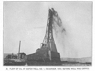 Salt Creek Oil Field - Dutch Well No. 1, 1908, in Salt Creek Oil Field