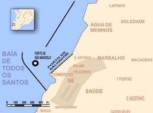 Comércio (Salvador) - Image: Salvador 1 detalhe Porto Centro Histórico