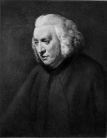 Photograph of Dr.Samuel Johnson.