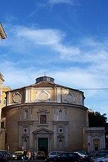 La iglesia de San Bernardo alle Terme fue construida dentro de una de las dos salas circulares de las termas.