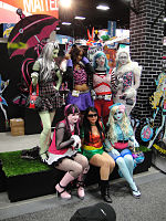 San Diego Comic-Con 2011 - Monster High girls (Mattel booth) (5992832407).jpg