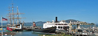 San Francisco Maritime National Historical Park - Historic ships docked at Hyde Street Pier, San Francisco Maritime National Historic Park