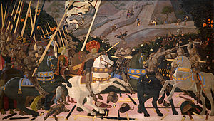 Algorithmic art - Paolo Uccello made innovative use of a geometric algorithm, incorporating linear perspective in paintings such as The Battle of San Romano (c. 1435–1460): broken lances run along perspective lines.