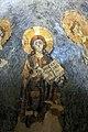 San lorenzo in insula, cripta di epifanio, affreschi di scuola benedettina, 824-842 ca., cristo benedicente alla greca tra i ss. lorenzo e stefano 03.jpg