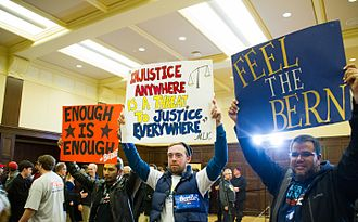 2016 Iowa Democratic caucuses - Sanders supporters in Iowa, January 31, 2016