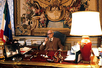 Sandro Pertini - President Sandro Pertini in his office at Quirinale palace.