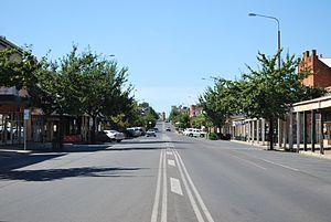 Corowa - A view of the main street of Corowa