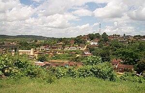 Vista parcial do bairro de Santa Terezinha em Alberto Maia, Camaragibe.
