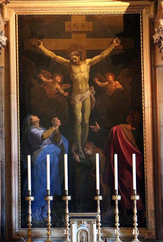 Santuario di loreto, sala del pomarancio, crocifissione di cristoforo roncalli 03.jpg