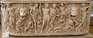 Orgia - Dionysian scene on a 3rd-century AD sarcophagus