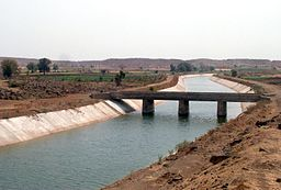 Sardar Sarovar Canal with flow.jpg
