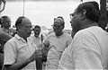 Saroj Ghose And Prasanta Chatterjee Discussing About Science City Project - Meeting Between CMC And NCSM Officers - Science City Site - Dhapa - Calcutta 1993-04-22 0594.JPG