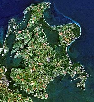 Satellite image of Rügen