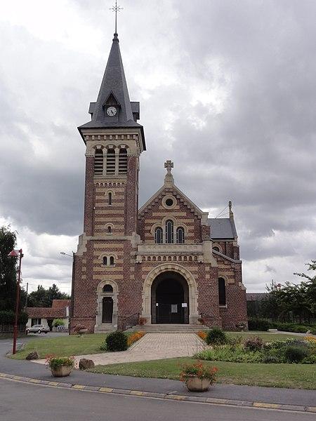 Savy (Aisne) église Saint Martin