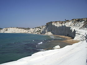 The so-called Scala dei Turchi.