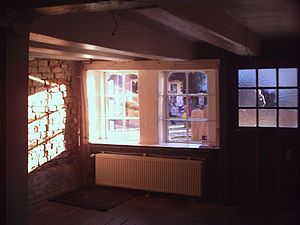 Shipper's House in Bremen - View from inside the house, when the sun was shining at 2 p.m. in January 2013