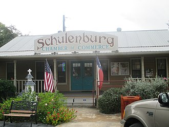 Schulenburg, Texas - Image: Schulenburg, TX, Chamber of Commerce building IMG 8219