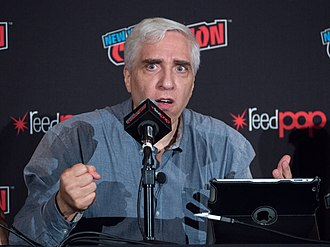 Steven Novella - Novella leading a panel about bad science in science fiction at New York Comic Con in 2018