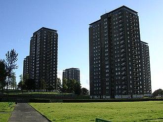 Scotstounhill - Scotstounhill tower blocks