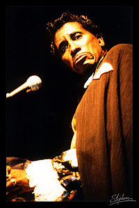 Screamin' Jay Hawkins au Festival National de Blues du Creusot en 1995.