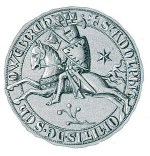 Adolph VI, Count of Holstein-Schauenburg - Seal of Adolph VI
