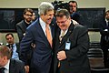 Secretary Kerry Shares a Laugh With Lithuanian Foreign Minister Linkevicius Before NATO Meeting in Brussels (14318562280).jpg