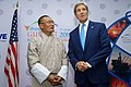 Secretary Kerry speaks with Bhutanese Prime Minister Tobgay before bilateral meeting at Vibrant.jpg