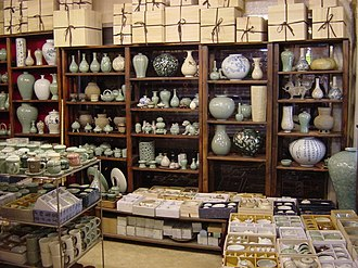 Insa-dong - A Korean traditional porcelain store