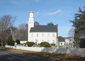 Setauket Presbyterian Church and Burial Ground - The church as seen from Caroline Avenue in December 2007