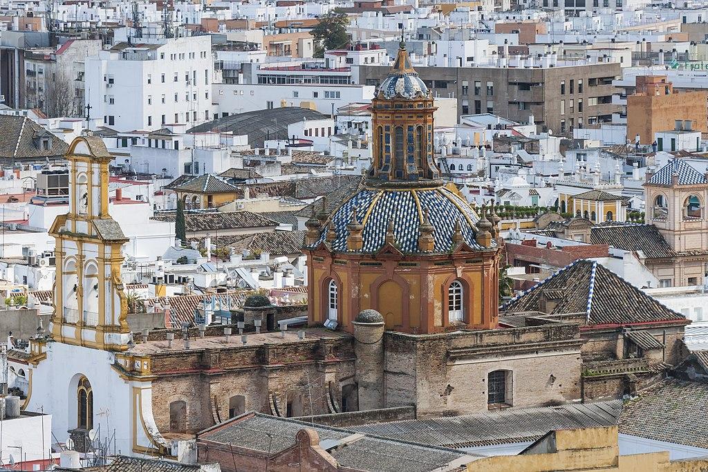 Monument à Séville : Eglise de Santa Cruz depuis la Giralda - Photo CEphoto, Uwe Aranas