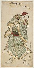 Ichikawa Yaozō III as the sparrow-seller Yasukata, actually Chūzō Sanekata