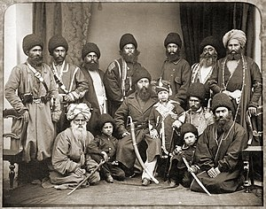 Pashtuns - Afghan Amir Sher Ali Khan (in the center with his son) and his delegation in Ambala, near Lahore, in 1869