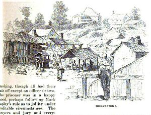 Shermantown (Atlanta) - Illustration of Shermantown from Harper's New Monthly Magazine, 1880