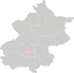 Location of Shijingshan District in Beijing