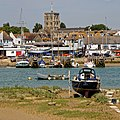 Shoreham-by-Sea harbour and St Mary de Haura Church, West Sussex, England.jpg