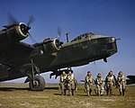 Short Stirling Mk I of No. 1651 Heavy Conversion Unit at Waterbeach in Cambridgeshire, 1942. TR9.jpg