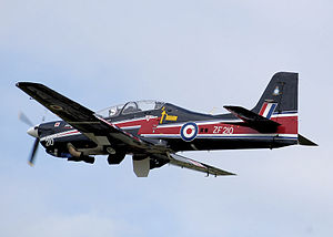 Short Tucano - RAF Short Tucano T1, in display colours for 2008