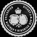Siegelmarke Dienst J. Majestät der Kaiserin und Königin Friedrich W0205429.jpg
